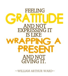 Feeling Gratitude-Express IT!!